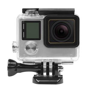 Image 5 - לירות 30M מקרה עמיד למים עבור GoPro Hero 4 3 + שחור כסף פעולה מצלמה עם סוגר מגן דיור עבור ללכת פרו 4 אבזר