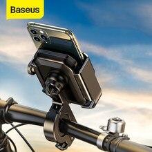 Baseus-Soporte de teléfono para motocicleta, montaje de espejo retrovisor para teléfono de 4,7-6,5 pulgadas
