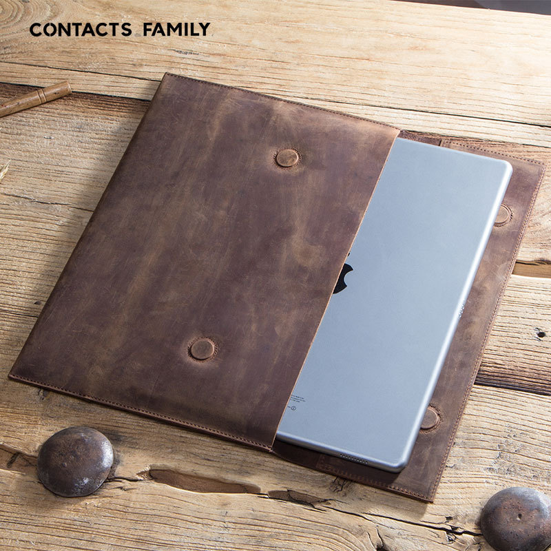 Atournesol en cuir véritable pour Ipad Pro 12.9 2017 étui à manches magnétique boucle poche à main pour IPad Pro 12.9 étui de protection couverture