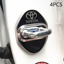 Защитный чехол для автомобильного дверного замка для toyota camry chr corolla rav4 yaris prius, стикер из нержавеющей стали, аксессуары для стайлинга автомоб...