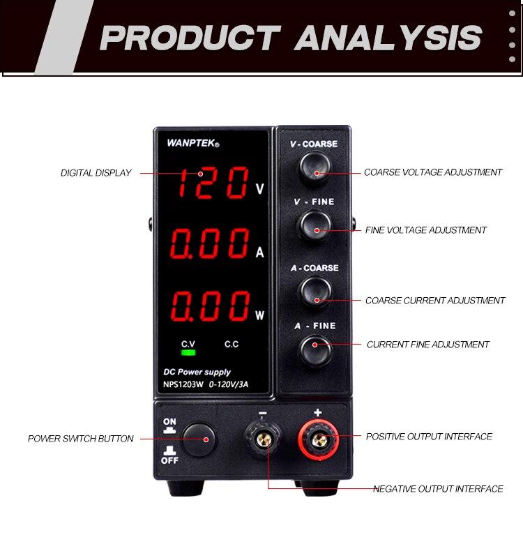 ajustável 120v 3a regulador tensão variável estabilizador banco fonte alimentação dc
