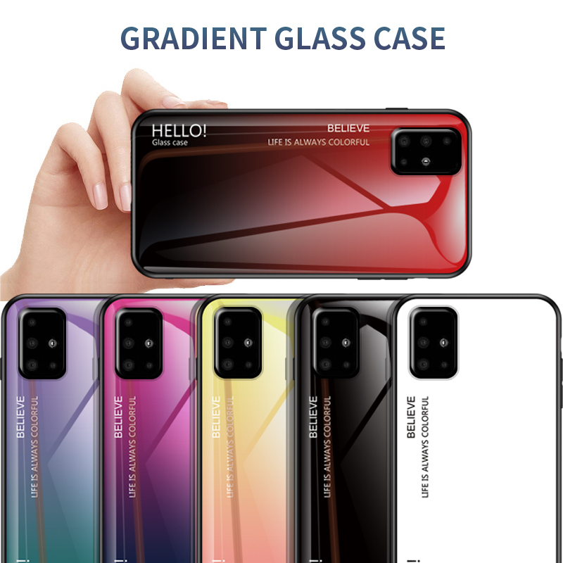 Fashion Stained Glass Phone Case For Samsung Galaxy A71 A51 A91 A81 Back Covers Coque For Samsung A41 A31 A21 A01 Anti-Fall Case