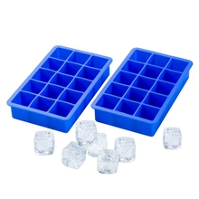 купить Silicone Ice Cube Tray 15 Perfect Square Ice Tray Superior Mold With Flexible Easy Release Ice Cube Maker Mould Color Random дешево