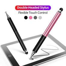 Uniwersalny 2 w 1 długopis Stylus dla Tablet z funkcją telefonu pióro dotykowe rysunek ekran pojemnościowy pióro dotykowe cil zlecono zajęcie się do smartfona z systemem Android długopis Stylus s