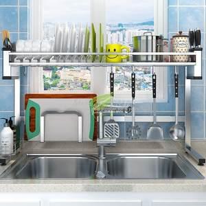 Shelf Rack Dish-Dryer Hooks-Organizer Kitchen Cup-Holder Storage Bertical with And Free-Adjustment