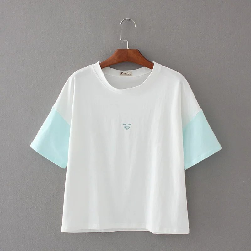 Cotton Summer Fashion T Shirt Women T-shirts Casual Tops Short Sleeve T-shirt Women