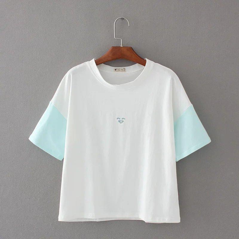 Cotton Summer Fashion T Shirt Women T-shirts Casual Tops Short Sleeve T-shirt Women