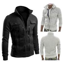 Herren Winter Warm Zipper Casual Jacke Männer Mantel Winter Jacke Männer Mit Kapuze Kaminsims Kausalen Zipper herren Jacken(China)