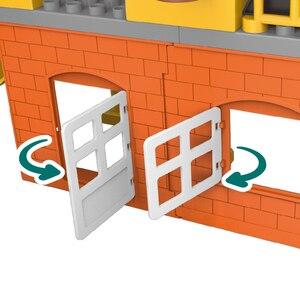 Image 4 - 183 قطعة بناء مدينة كبيرة الحجم لتقوم بها بنفسك حفارة المركبات بلدوزي اللبنات مجموعة الطوب Duploed لعب الاطفال طفل الأطفال