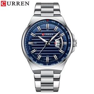 Image 2 - CURREN New Men Business Watch Full Steel Quartz Top Brand Luxury Sports Waterproof Casual Male Wristwatch Relogio Masculino