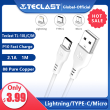 Teclast P10 Cable Quick Charge Lightning Micro USB Type-C 2.1A Current Durable Quality 1m PVC material Fast Charge