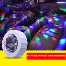Party Atmosphere-Light Mini Disco Ball Light Music Sound Activated LED Portable USB Rechargeable Car RGB DJ Stage-Light
