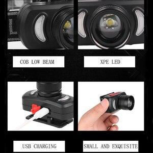 Image 5 - Novo farol usb recarregável farol luz vermelha luz azul cabeça zoom poderoso cabeça lâmpada à prova dwaterproof água para uso ao ar livre