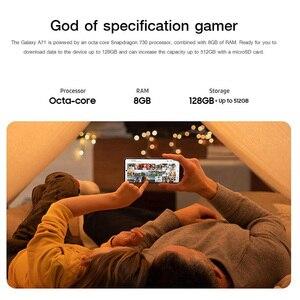100% Оригинал Samsung Galaxy A71 A715F/DS 8 Гб 128 ГБ глобальная Версия Мобильный телефон 6,7