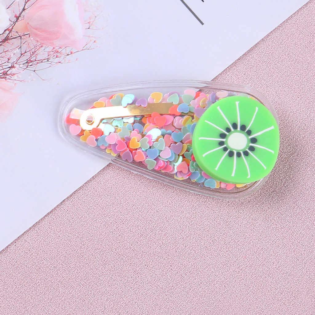 เด็กทารกเด็กหญิงเด็กหญิงการ์ตูนผลไม้ Hairclip Barrettes Headwear Quicksand ผลไม้ Hairpin อุปกรณ์เสริมผม M800 #