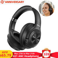 Mpow H21Hybrid Active Noise Cancelling Headset Wireless Bluetooth 5.0 Music Headphones 40h Playtime CVC 6.0 For iPhone 11 Xiaomi