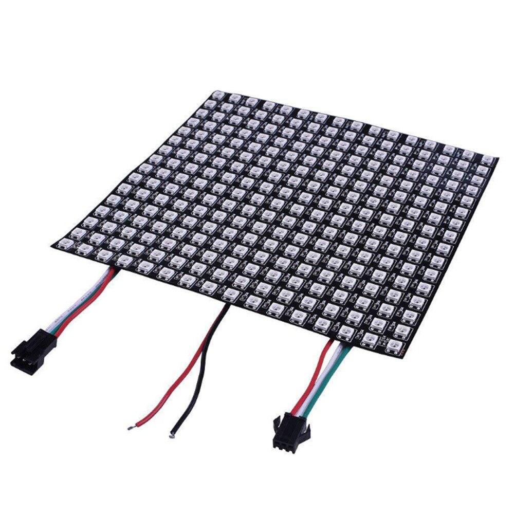 DC5V WS2812B LED Digital Flexible Individually Addressable Panel Light WS2812 8x8 16x16 Module Matrix Screen