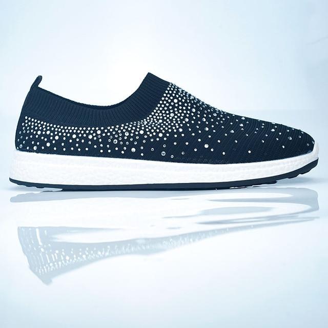 Women shoes Sneakers Shiny Sock  5