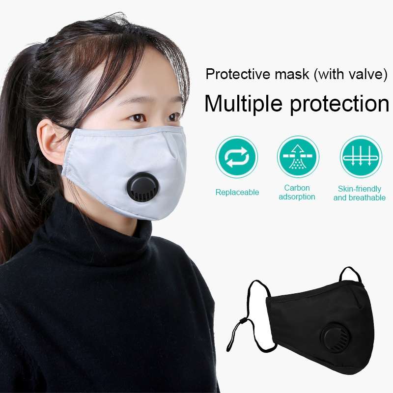 PM2.5 Anti Haze Cotton Mask Anti Dust Mouth Mask Activated Carbon Filter Mouth-muffle Mask