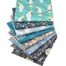 8 個ソフト通気性の綿の布パッチワークテキスタイル素材プリント生地縫製リネンプリントキルティング生地パッチワークdiy手作り