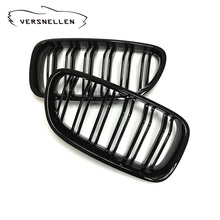 Quality Fitment Carbon Fiber Dual Slat Front Kidney Grills Gloss Black Three Color M Look for BMW 5 Series F10 F11 M5 2010 ON