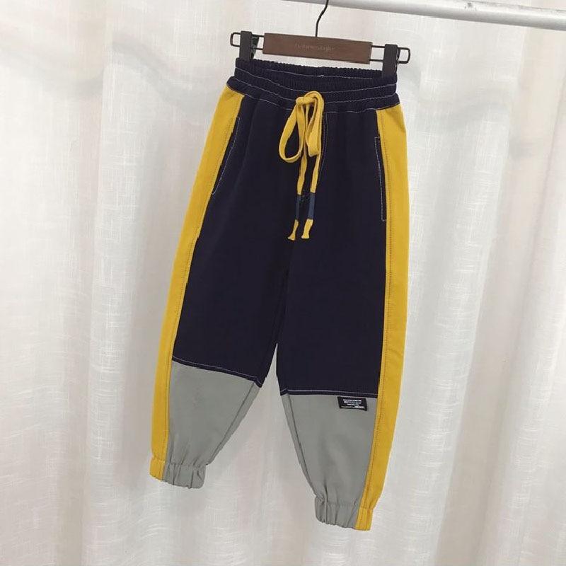 VFOCHI 2021 Boys Pants Winter Patchwork Pencil Pants 3-14T  Kids Trousers Teenager Boy Clothing Elastic Waist Boy Cargo Pants 3