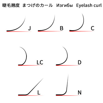 NAGARAKU Fast Ship 16rows/case 7~15mm mix premium natural synthetic mink individual eyelash extension makeup maquiagem cilios 6