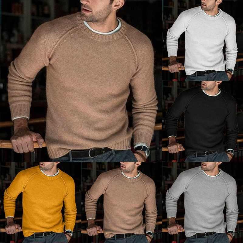 Wełniane dla mężczyzn dzianinowe swetry ciepłe O Neck Pull dzianiny jesienne zimowe ubrania Casual trykotowy sweter swetry sweter Homme