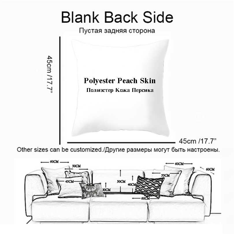 Single-Sided Polyester Red Buffalo Kisi Melemparkan Sarung Bantal Huruf Alfabet Bahasa Inggris Cushion Penutup Sofa Dekorasi Ruang Tamu