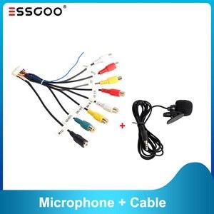 RCA кабель для Essgoo Android автомобильный Радио для подключения микрофонный сабвуфер 3,5 мм Mic