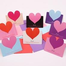 Смешанные цвета в форме сердца поздравительная открытка складной