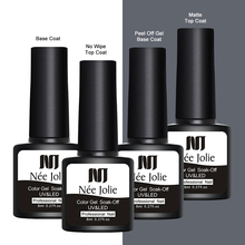 NEE JOLIE 8ml Reinforcement Gel Nail Protector Thickness Enhancer Transparent Soak Off Base Coat Top Art UV