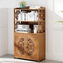Storage-Rack Bookshelf Cabinets Living-Room-Furniture Meble Bamboo Chinese-Style 69--30--93/123cm