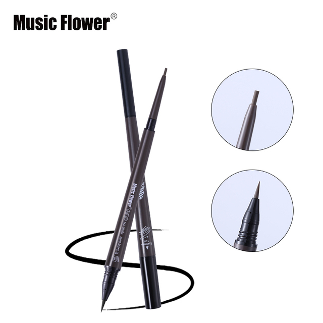 Music Flower Brand Cosmetic Eyes Makeup Matte Natural Double Head Eyebrow Pencil +Eyebrows Tint Liquid Waterpoof Long-lasting 2