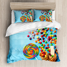 Rainbow candy French Macaron Bedding Set Colorful Duvet Cover 3D Print Comforter Cover Dessert Food Bed  3pcs Queen bedding set cactus print bedding set
