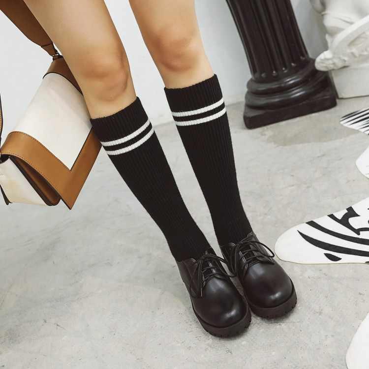 Big Size 9 10 11 12 stivali donna donna inverno stivali donna scarpe da donna botas rappezzatura Lavorato A Maglia di colore fascia della traversa