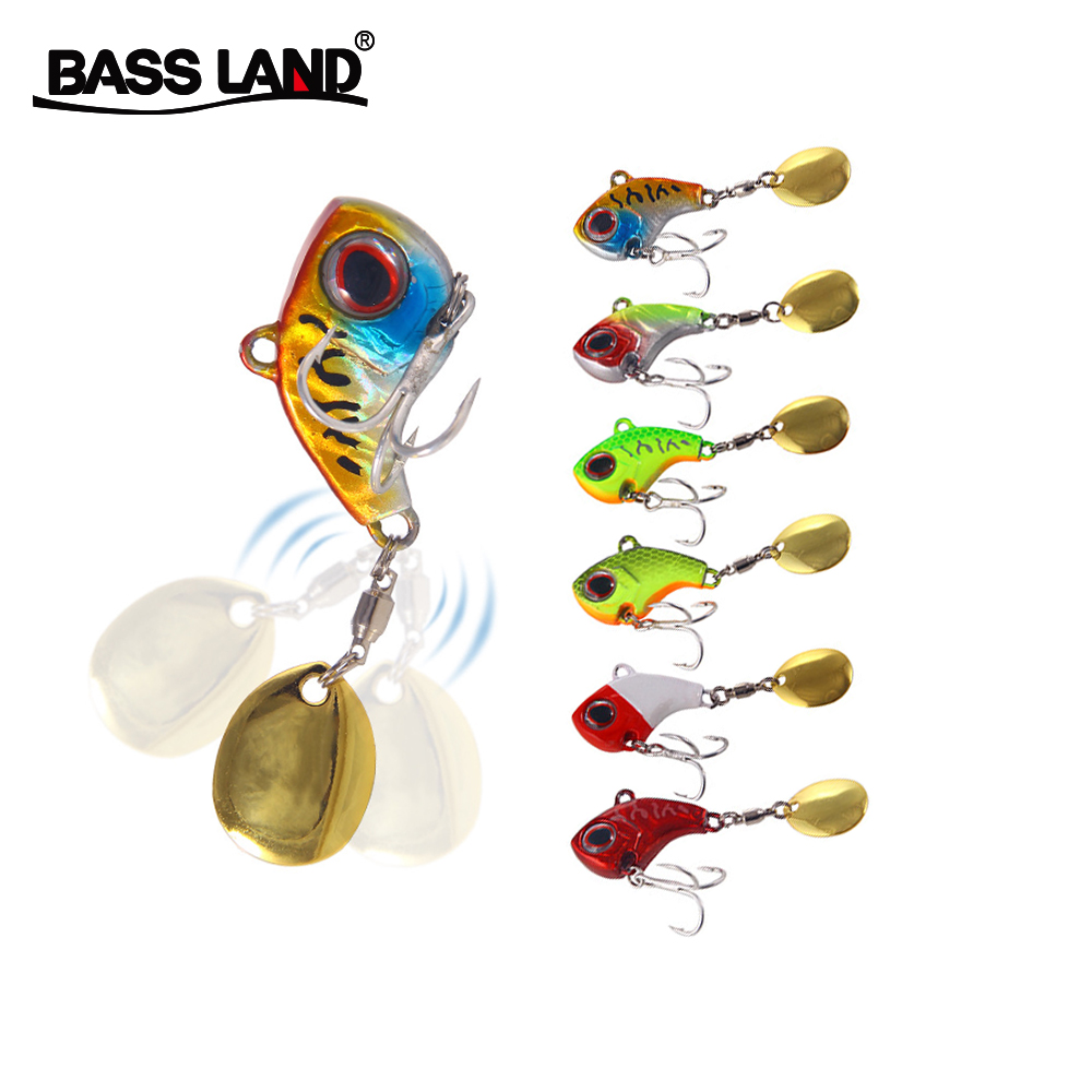 Mini Metal VIB 9g 13g 16g 22g Spoon Vibration Hard Bait Artificial Bionic Crankbait Fishing Lure Sea Winter Fishing Tackle