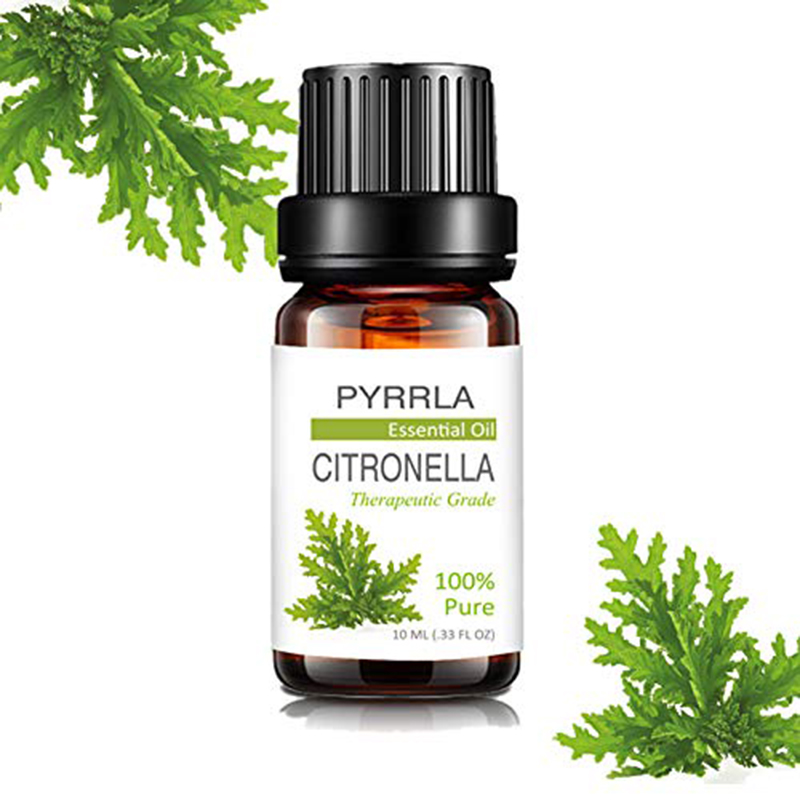 Pyrrla 10ml Citronella Pure Essential Oils For Aromatherapy Mosquito Repellent Humidifier Diffuser Refreshing Essential Oil