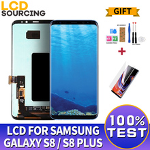 AMOLED S8 สำหรับSAMSUNG Galaxy S8 จอแสดงผลLCD G950 G950F Touch Screen Digitizer ASSEMBLYสำหรับS8 + PLUS G955 G955Fเปลี่ยน