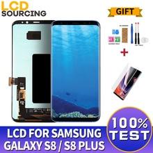 AMOLED S8 do SAMSUNG Galaxy S8 wyświetlacz LCD G950 G950F ekran dotykowy Digitizer zgromadzenie dla S8 + Plus G955 G955F wymienić
