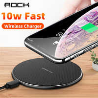 ROCK 10W Veloce Caricatore Senza Fili Per iPhone 11 X XS MAX XR Carica Rapida 3.0 Qi Pad Caricatore Senza Fili per Samsung Huawei Xiaomi