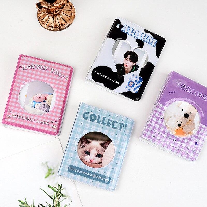 Kpop звезда чеканка альбомная Коллекция Книга круглые просвечивающие фотоальбом 3 дюймов Мини моментального фотоаппарата Polaroid Фотоальбом