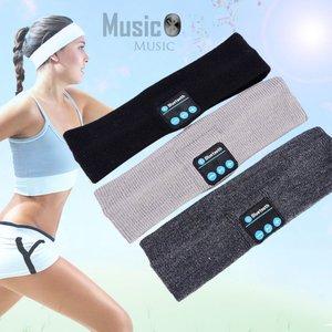 Image 5 - אלחוטי Bluetooth אוזניות שינה יוגה סרט כובע רך חם ספורט כובע חכם חכם רמקול סטריאו צעיף אוזניות עם מיקרופון
