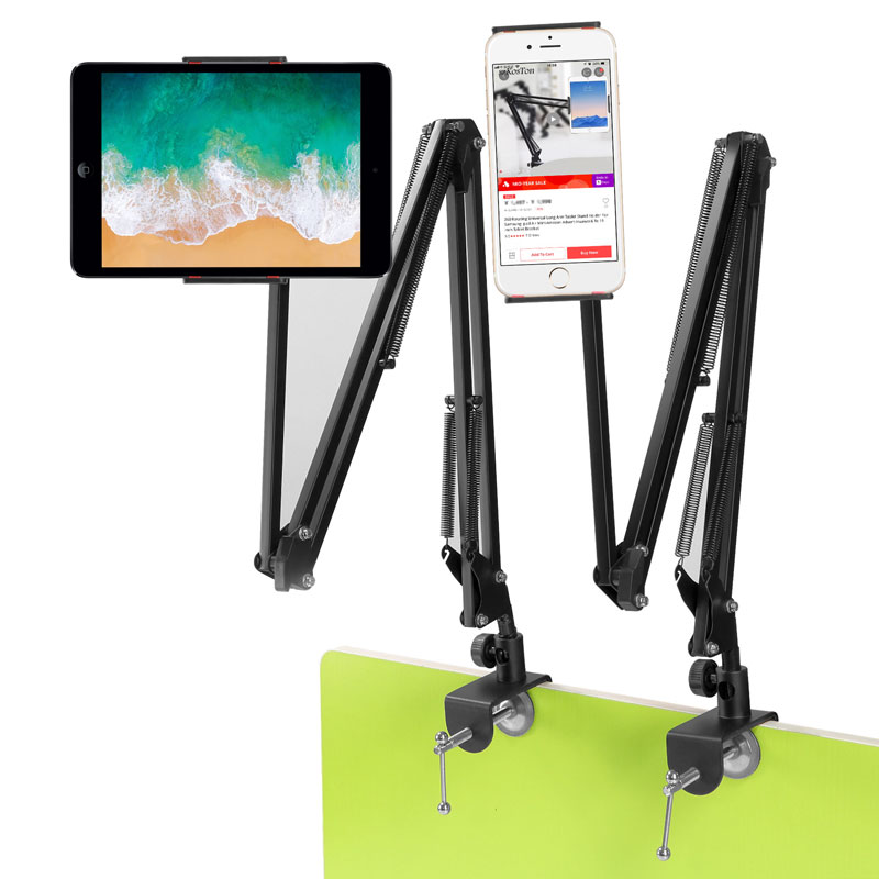 Image 4 - For IPad Pro AIR Samsung S5e 10.6 Inch Tablet Holder Stand Lazy Bed Desk Tablet Mount Support Cell Phone Bracket For Iphone X XSTablet Stands   -