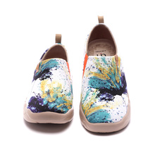 Sneakers UIN Travel-Shoes Walking-Flats Painted Slip Ons Lightweight Women's Flower Art