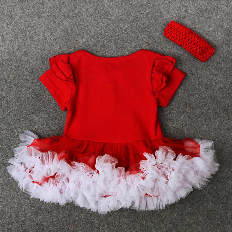 Ropa de bebé recién nacido mamelucos de Navidad mono infantil + banda para el cabello ropa de bebé de punto traje de santa claus
