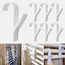 1/2/4/6 pçs cabide de alta qualidade para aquecedor toalha trilho do radiador cabide roupas banho gancho titular percha plegable cachecol cabide branco