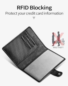 Image 2 - Carteira masculina com sistema rfid, carteira masculina feita em couro com tecnologia rfid, com compartimento para passaporte e cartão de visita