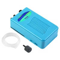 Portable Waterproof Aquarium Fish Tank Air Pump Oxygen Pump With Soft Tube Airstone Aquatic Pet Products|Outdoor Tools| |  -