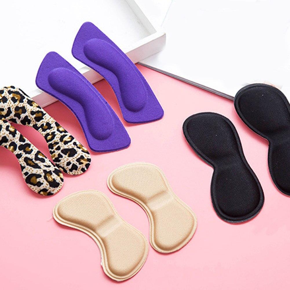 Модные 2 шт. практичные вставки для обуви из липкой ткани, вставки для обуви на заднюю пятку, стельки, подкладки для подушки, подкладки, захва...